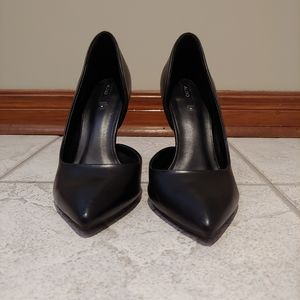 Aldo Black Leather Heels Size 8.5